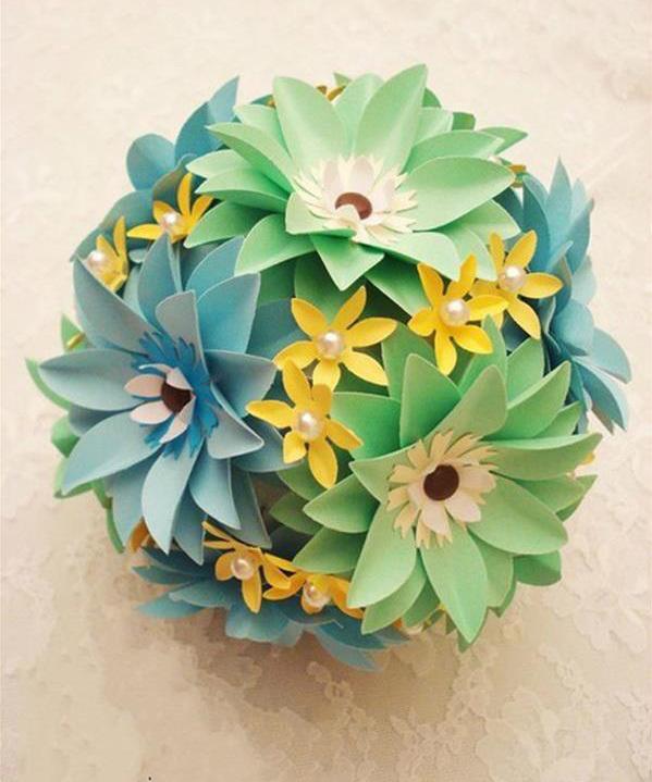 如何制作纸花 diy简单纸花的折法图解教程