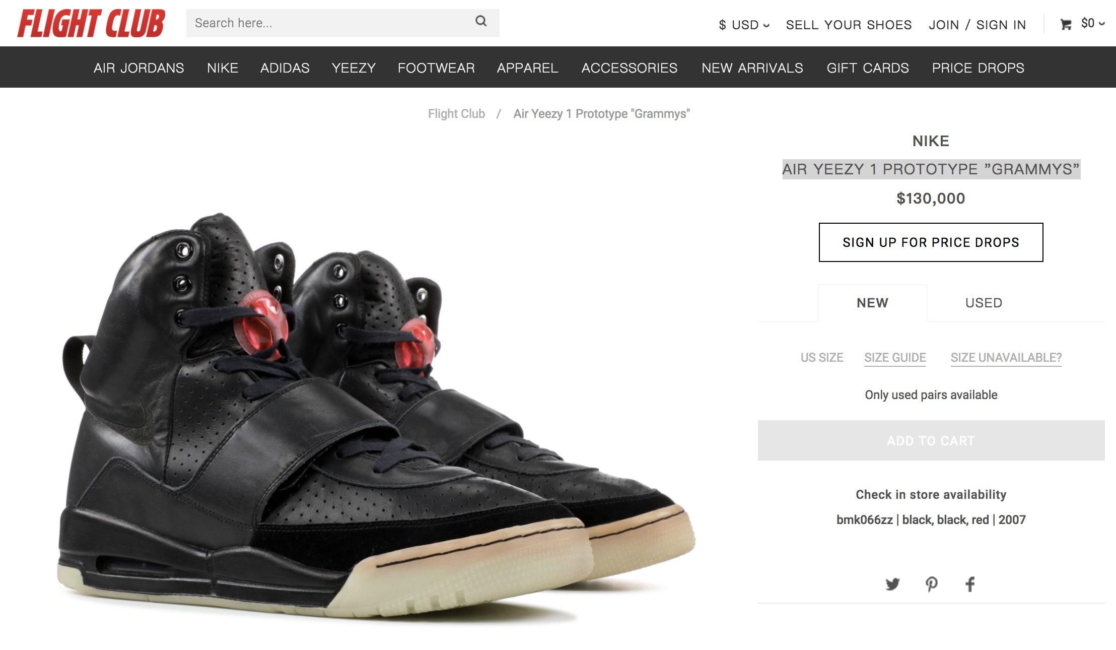 """95fcd1d23f2 ... 售""""GRAMMYS"""" 鞋款稀有程度可想而知!各位感兴趣的朋友不妨前往Flight Club  欣赏这双极其珍贵的鞋款,不过根据价格来看估计是一般人不能接受了!"""