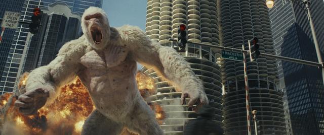 《狂暴巨兽》新预告巨石巨猩决裂?网友:巨兽一声吼地球抖三抖