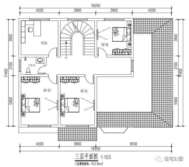 新农村自建房16x14米,适合农村养老,45万建成比别墅还