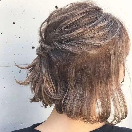 不管是长发还是短发,半扎发都能