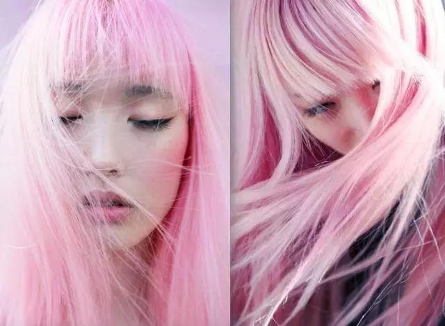 为了这一头粉发,她也是痛下血本,所有的零用钱都用在买染发剂和头发图片