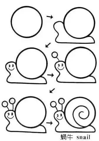 儿童简笔画 一个圆竟然画出近百种可爱有趣的公仔 干货