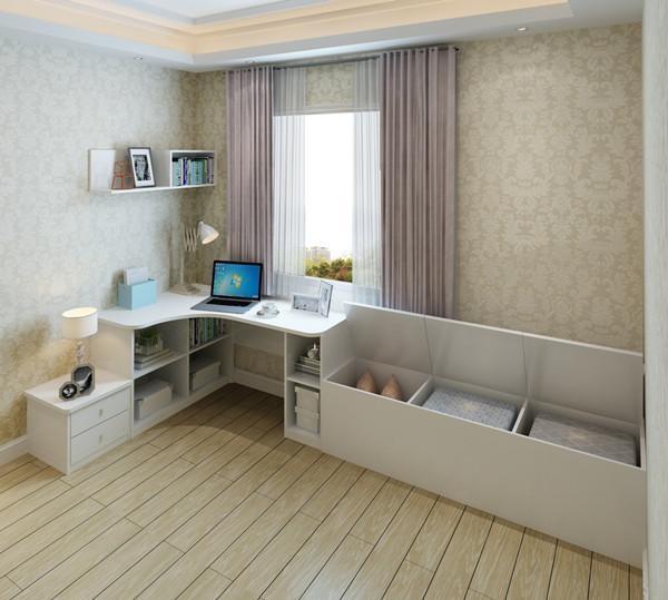 转角书桌 飘窗矮柜,可以上翻储物,收纳空间扩容.图片