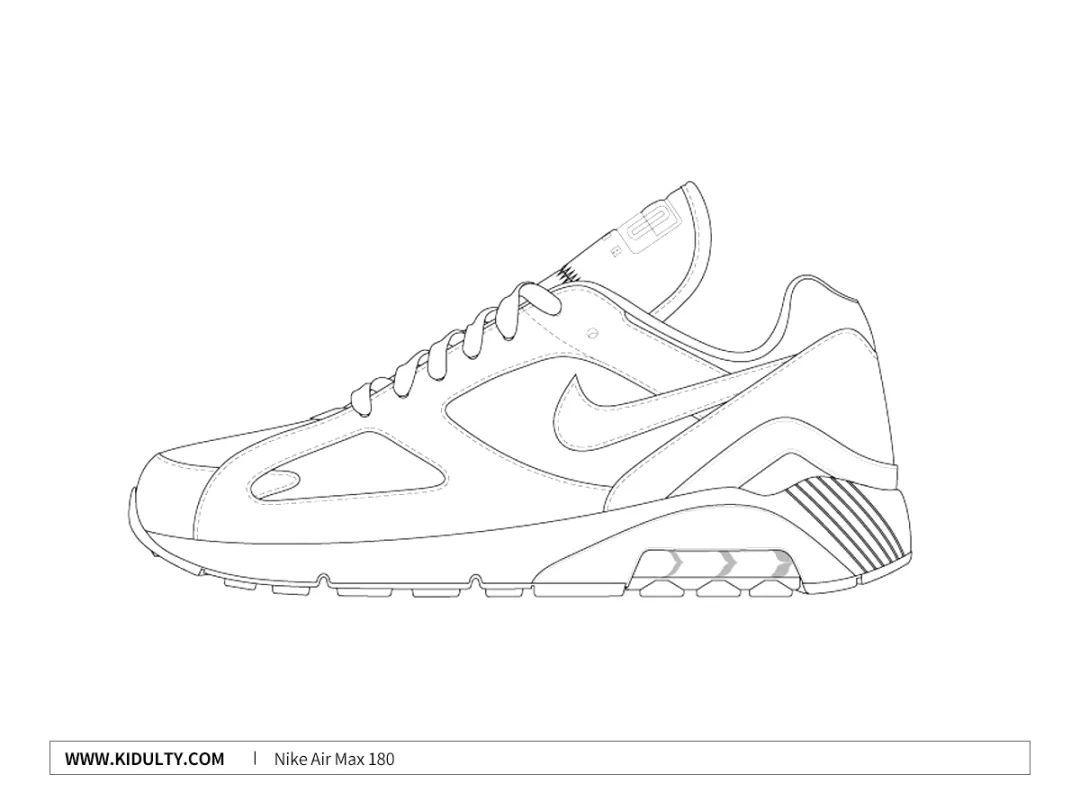 简笔画 手绘 线稿 鞋 运动鞋 1080_810