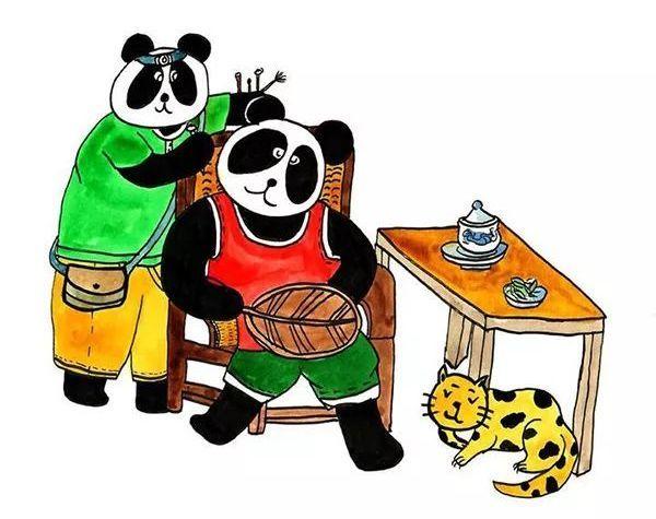 成都一小学生手绘72幅熊猫漫画,为了让更多人了解家乡的方言