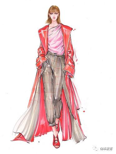 服装设计详细步骤手绘图
