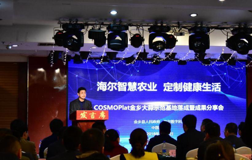 海尔COSMOPlat牵手农业 推动大蒜产业四新经济发展