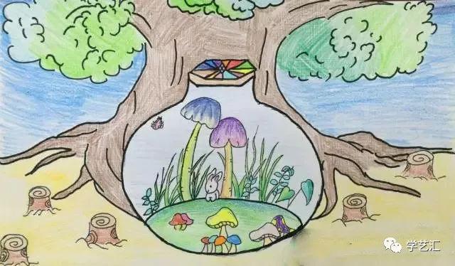 60 地球一小时 保护环境从我做起 儿童创意画赏析