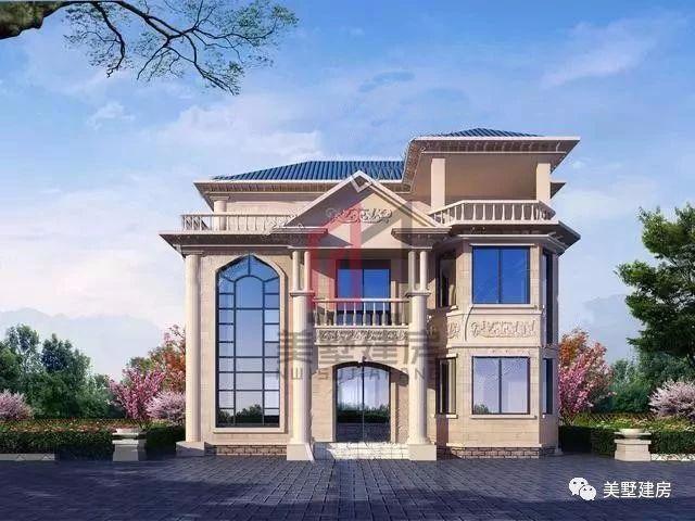 经典3层农村别墅,3套外观3总布局,30万到40万建好,哪一个最适合你?