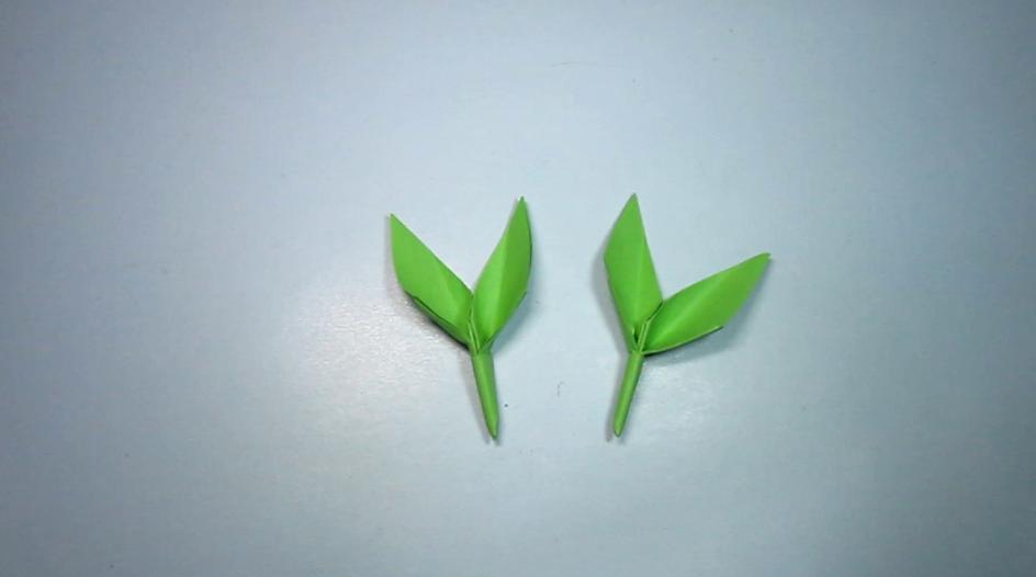2分钟就能折出美丽的小树芽,简单的小树芽手工折纸教程