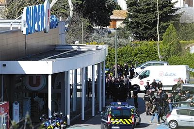法国南部恐袭致4死 警察交换人质后身亡
