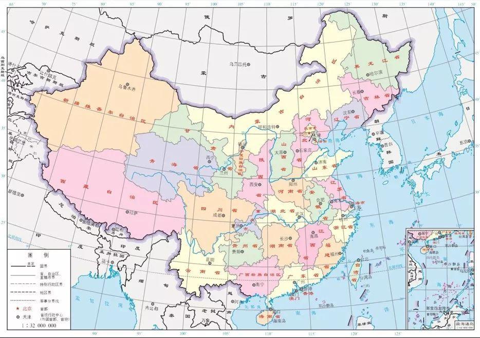 这是传统的中国地图.
