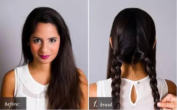 不挑脸型的编发发型,漂亮简单的编发教程步骤!