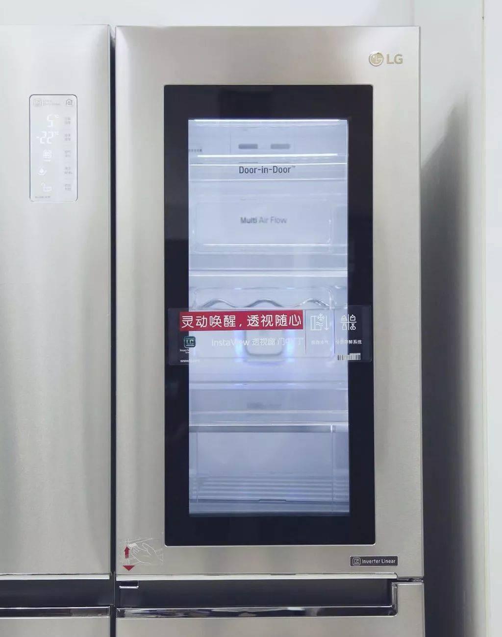 LG InstaView透视窗门中门冰箱:真•高端冰箱了解一下_今天