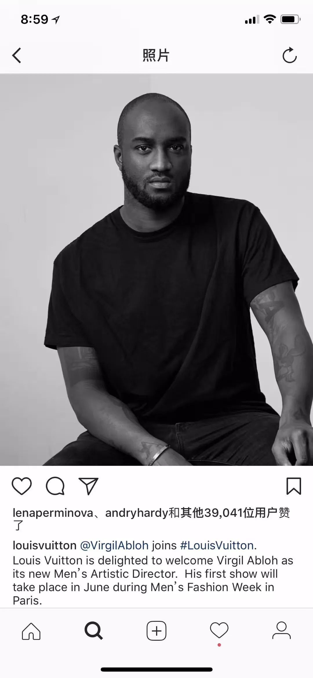 快讯|LV任命Virgil Abloh为男装创意总监、Alexander McQueen举办2018春夏活动、迪丽热巴为蜡像揭幕