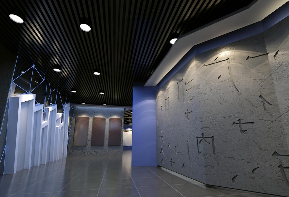 18万元商业展示60平米装修案例_效果图 - 红酒展厅设计 - 设计本
