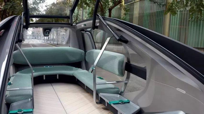 雷诺公司推出无人驾驶共享概念车,离智能城市又近一步