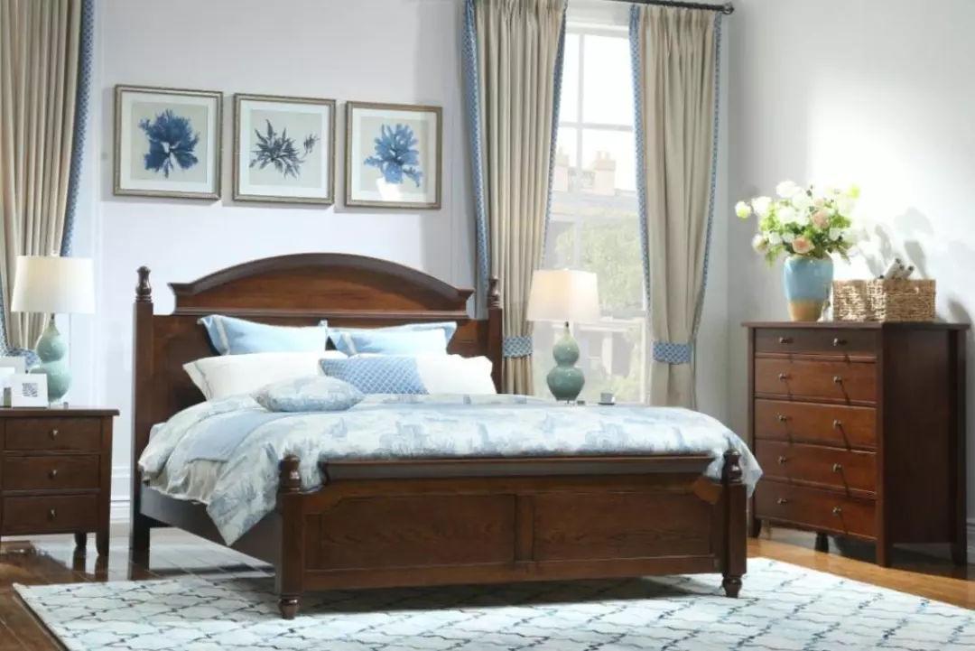 镶入式床手绘效果图