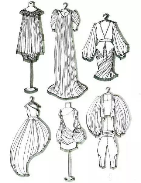 今日分享   零基础快速学习款式图画法,掌握服装设计技巧!图片