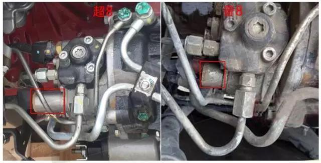 七:超8柴油泵scv阀为长阀,普8为短阀图片