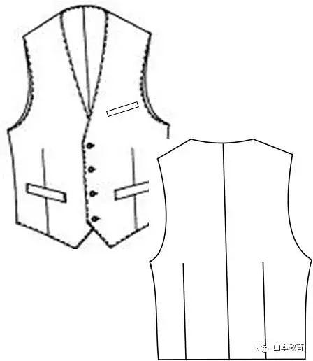 服装打版教程 各种马甲打版制图