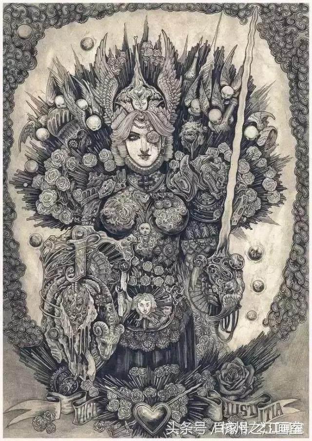 《铅笔手绘 扑克帝国》 红桃a -end- - 创意来自 美术志团队 - 返回搜