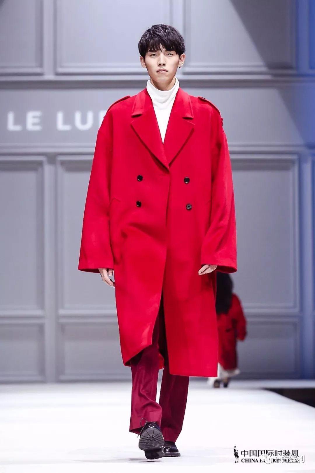 中国国际时装周2018 aw   李昊男亮相le lupercus 王临&海翔 秀场