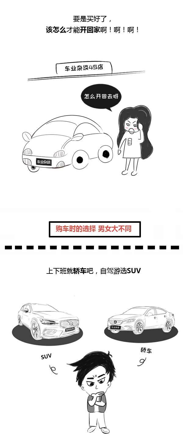 男女买车差异究竟有多大?看完这幅漫画你就懂了 - 周磊 - 周磊