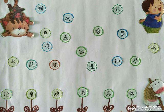 """江门开平:某小学一年级""""识字小报"""",见字,见报,见情,见"""