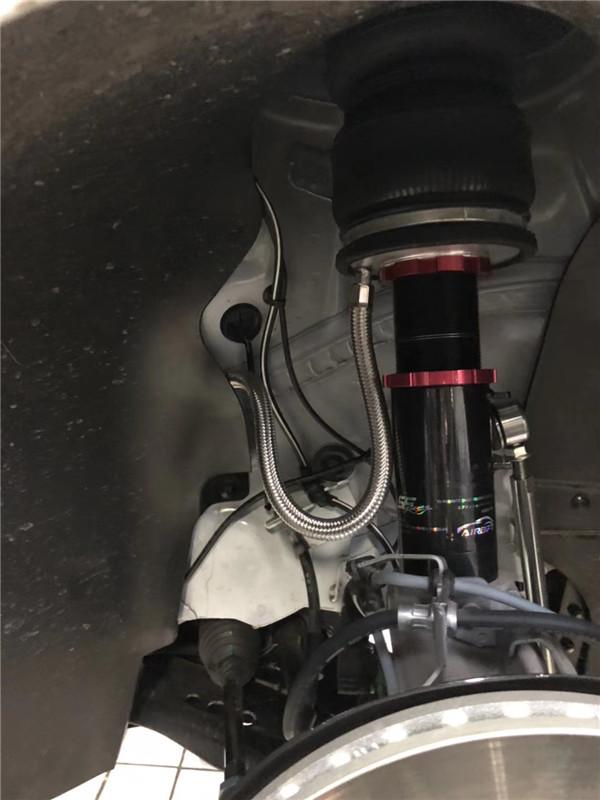 高尔夫7气动避震改装 endo气压避震悬挂完美装车图片