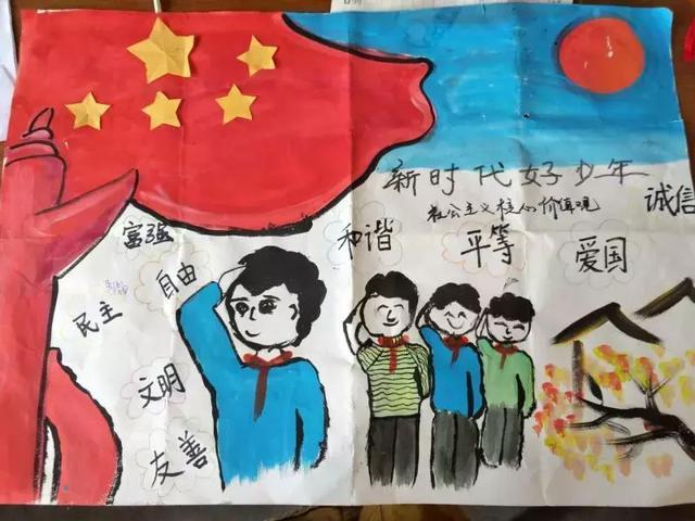 潢川县小学举行争做新时代好队员手抄报活动图片