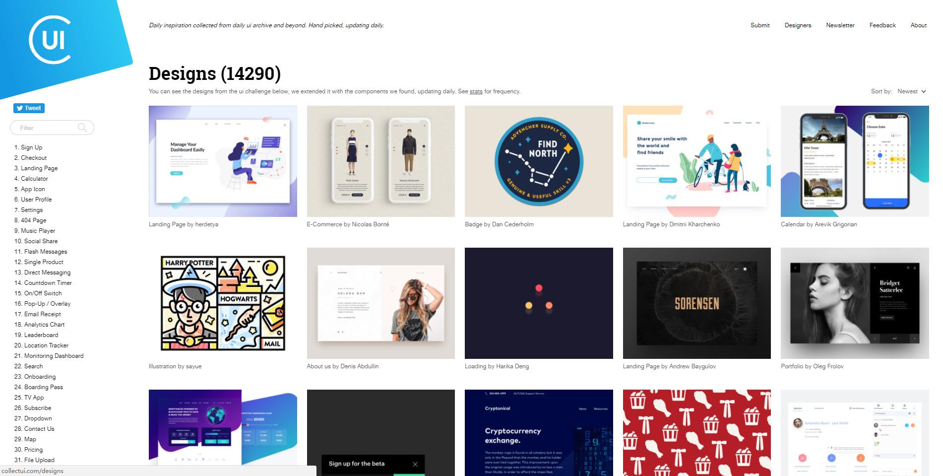 ui 设计师必存的十大网站图片