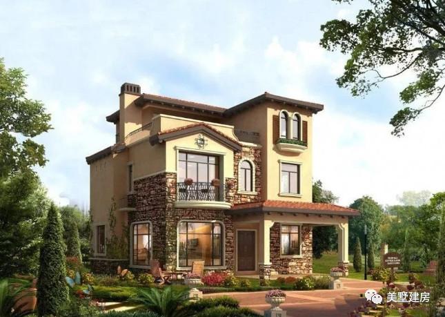 农村也盖起了,托斯卡纳意式风格别墅,为新农村发展点