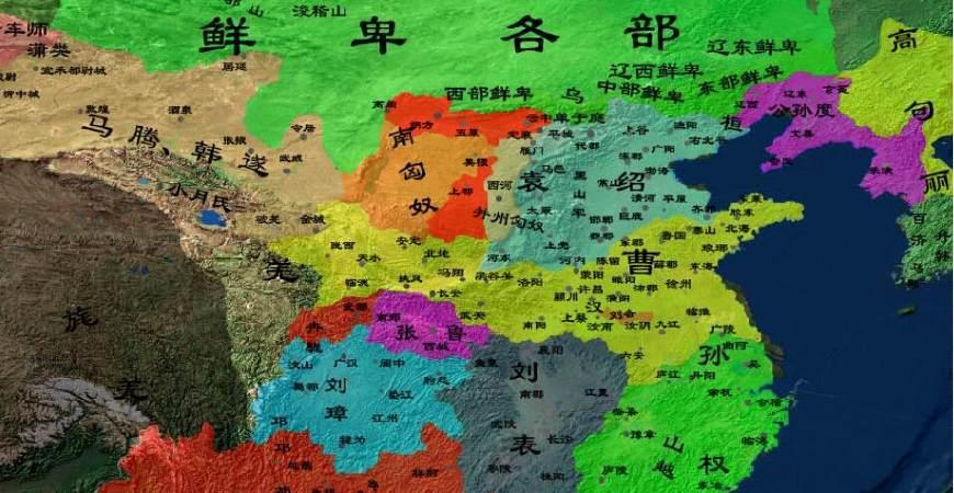 东汉末年分四国,东吴,蜀汉和曹魏之外还有一个燕国