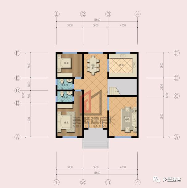 10米12米别墅平面图