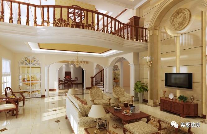农村二层自建房别墅,一样可以拥有大气的挑空客厅!