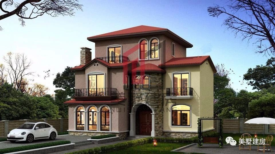 农村也盖起了,托斯卡纳意式风格别墅,为新农村发展点个赞!