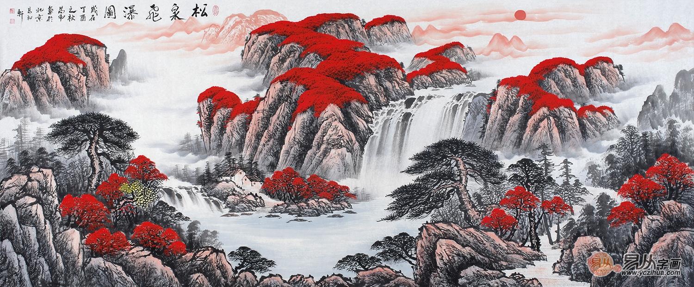 古朴又充满艺术气息,新中式家居挂一幅山水画好看