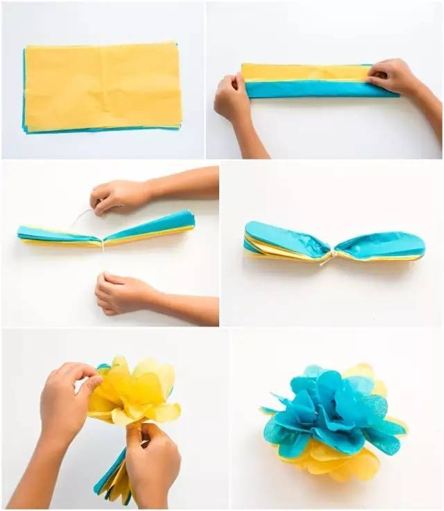 纸花的折法步骤图解