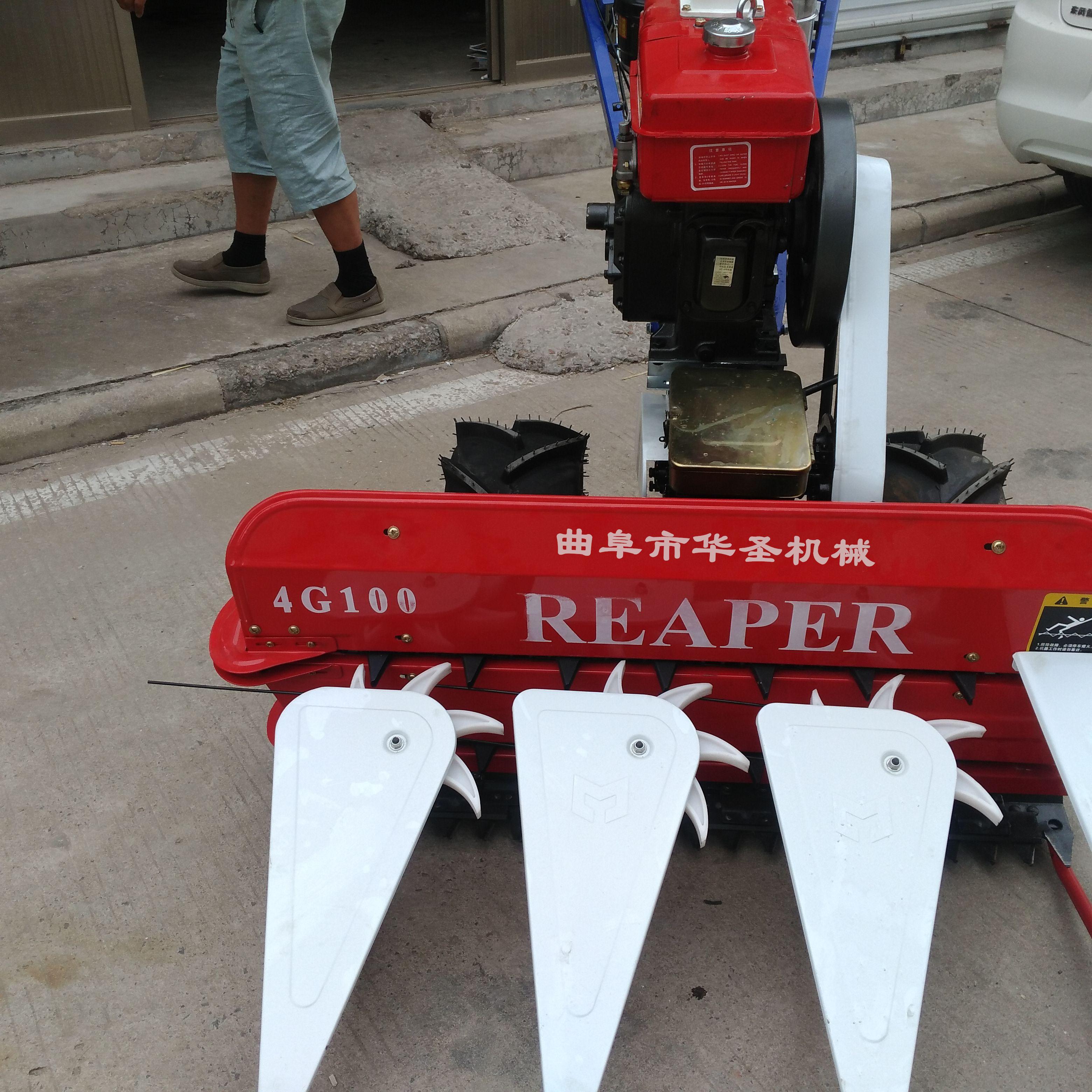 与手扶拖拉机配套的联合收割机的制作方法_X技术
