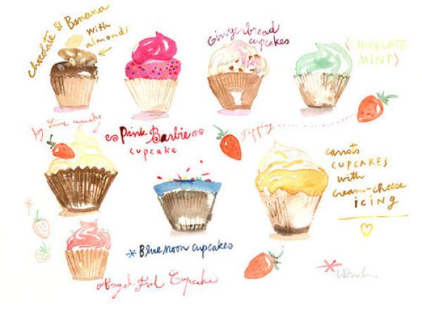 动漫头像:手绘美食,你喜欢灵动仙女蛋糕还是唯美系冰淇淋?