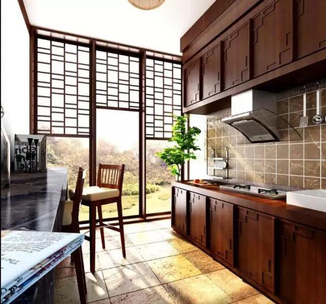 中西式厨房设计平面图