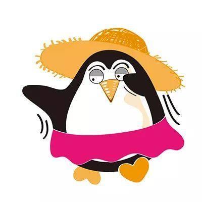 企鹅文字矢量图