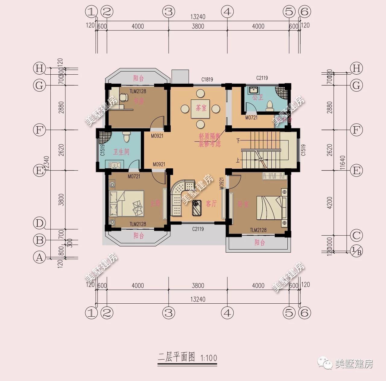 农村自建房别墅,宽11米深八米厨房另外建,该怎么设计好?图片