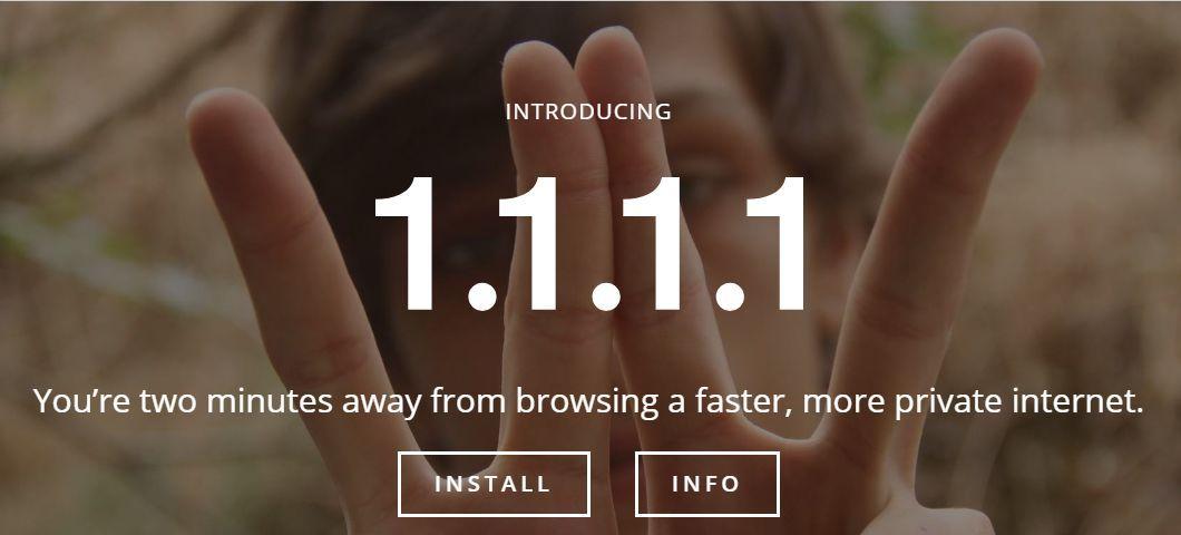 1.1.1.1:史上最牛逼的公共DNS服务推出 - 第1张  | 鹿鸣天涯