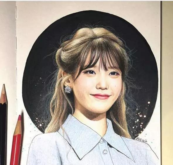 ksyck 她最擅长画彩铅头像 尤其是韩国的女明星跟男明星 头像虽然没有