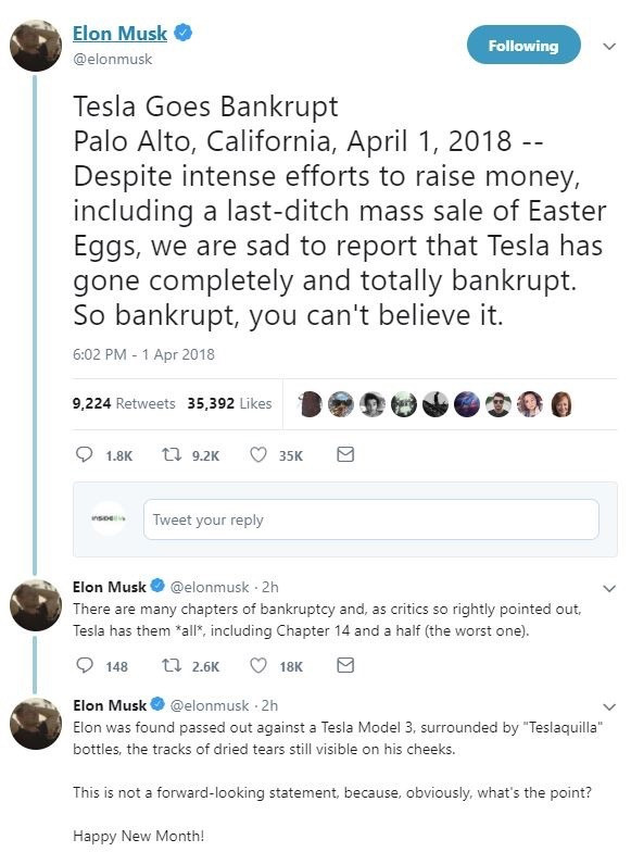 没有新闻通告,没有媒体的采访,马斯克以创始人的名义在推特上宣布
