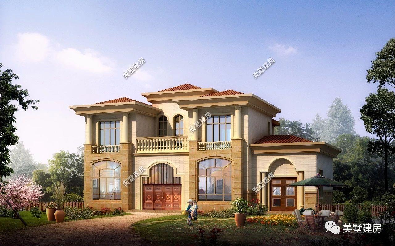 农村居民最喜欢的五款二层小别墅,30万就能建好,你选哪一款