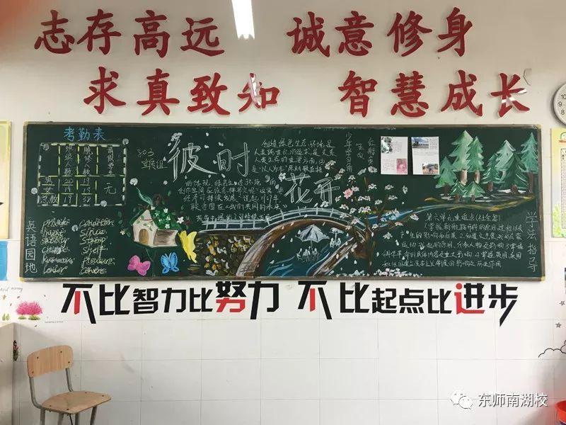 尺方板报,文化自信——东师南湖校初中部班级黑板报